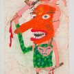 Camilo Restrepo. <em>Majiño</em>, 2021. Water-soluble wax pastel, ink, tape and saliva on paper 11 3/4 x 8 1/4 inches (29.8 x 21 cm) thumbnail