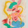 Camilo Restrepo. <em>Pichi</em>, 2021. Water-soluble wax pastel, ink, tape and saliva on paper 11 3/4 x 8 1/4 inches (29.8 x 21 cm) thumbnail