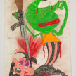 Camilo Restrepo. <em>Pepe</em>, 2021. Water-soluble wax pastel, ink, tape and saliva on paper 11 3/4 x 8 1/4 inches (29.8 x 21 cm) thumbnail