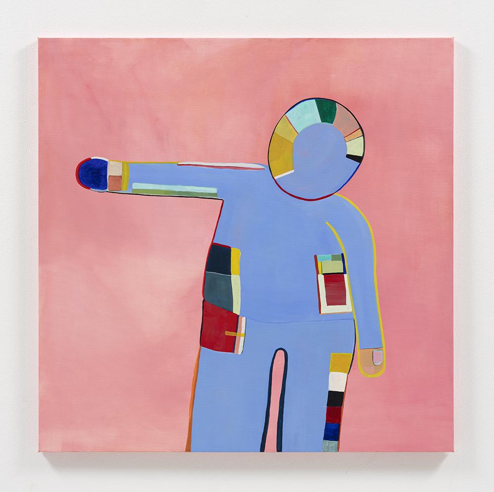 Gabby Rosenberg. <em>Loud Flesh, No Shadow IX</em>, 2021. Acrylic on canvas, 36 x 36 inches (91.4 x 91.4 cm)