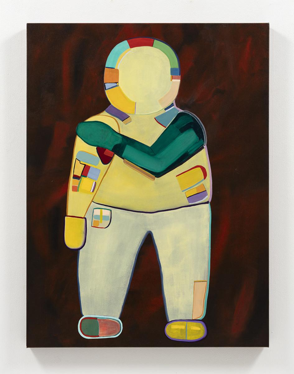 Gabby Rosenberg. <em>Loud Flesh, No Shadow VI</em>, 2021. Acrylic on canvas, 48 x 36 inches (121.9 x 91.4 cm)