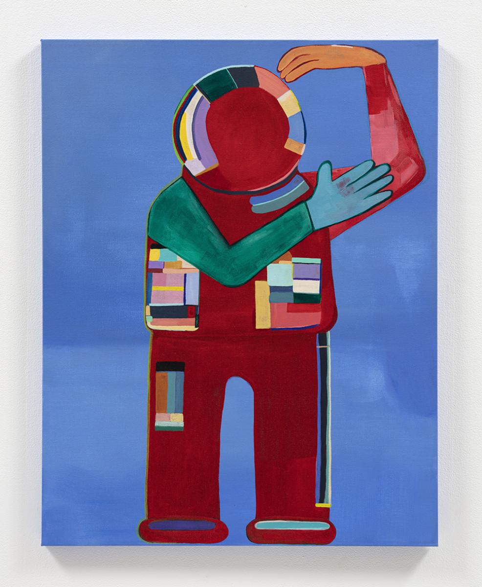 Gabby Rosenberg. <em>Loud Flesh, No Shadow VIII</em>, 2021. Acrylic on canvas, 28 x 22 inches (71.1 x 55.9 cm)