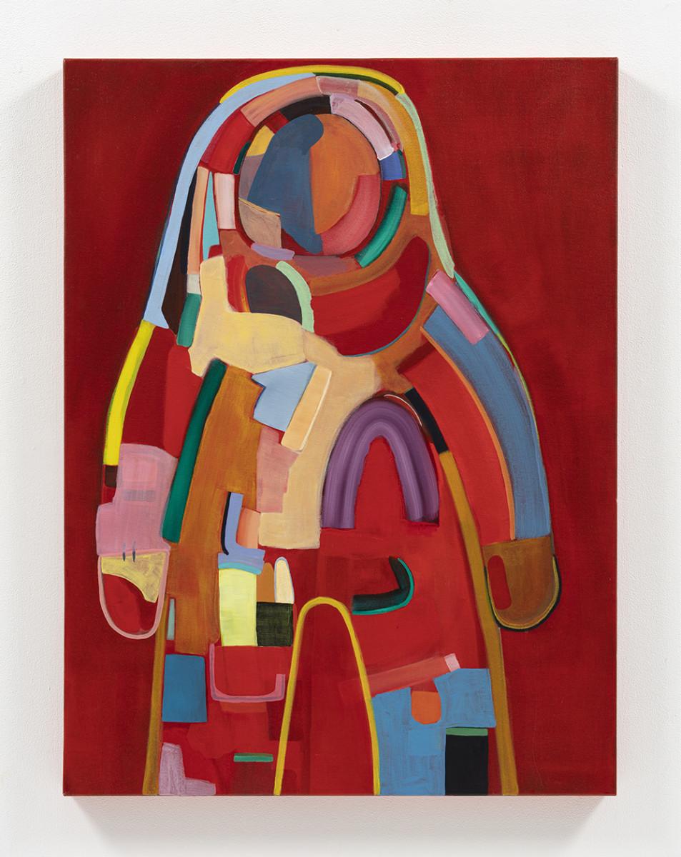 Gabby Rosenberg. <em>Spacesuit II</em>, 2021. Acrylic on canvas, 40 x 30 inches (101.6 x 76.2 cm)
