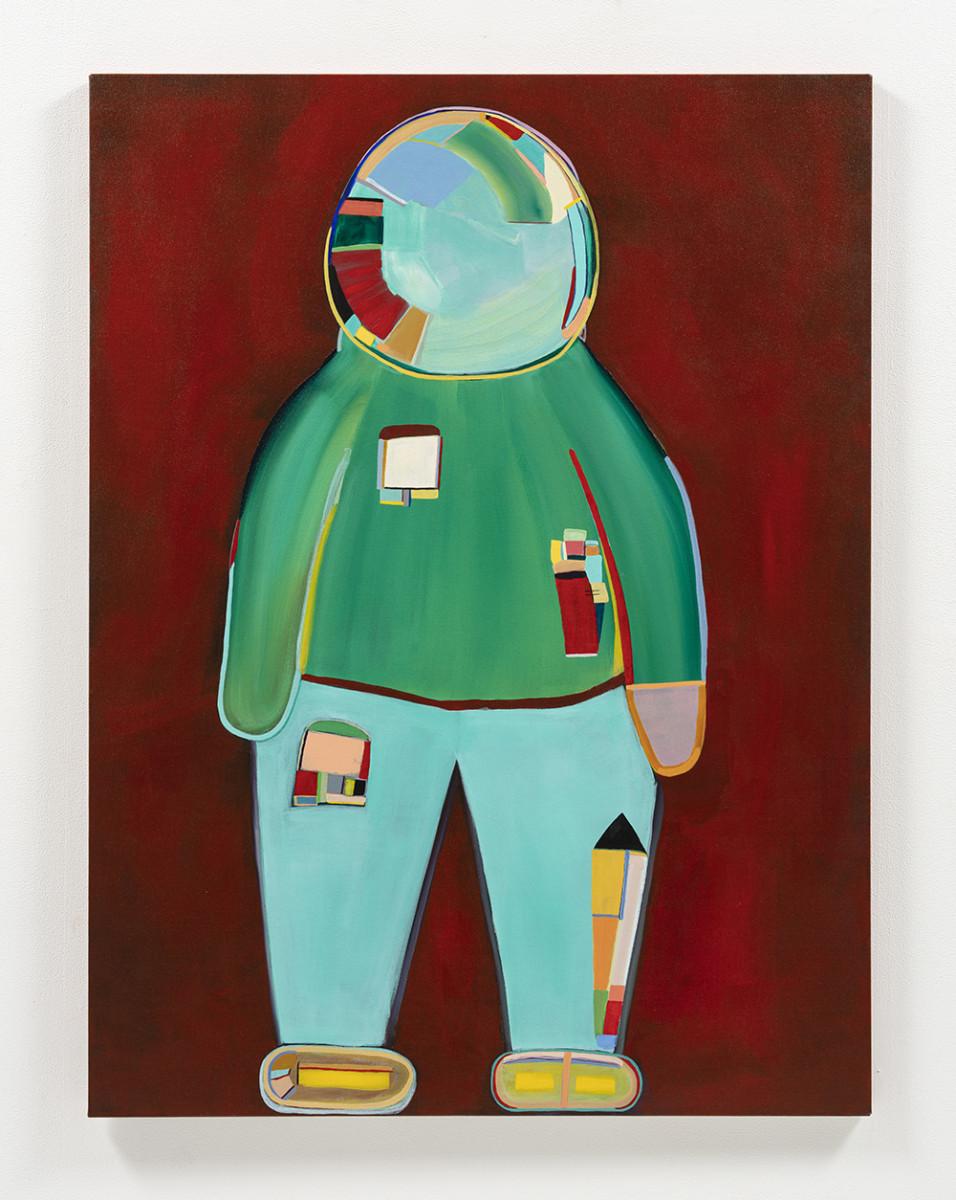 Gabby Rosenberg. <em>Loud Flesh, No Shadow VII</em>, 2021. Acrylic on canvas, 48 x 36 inches (121.9 x 91.4 cm)