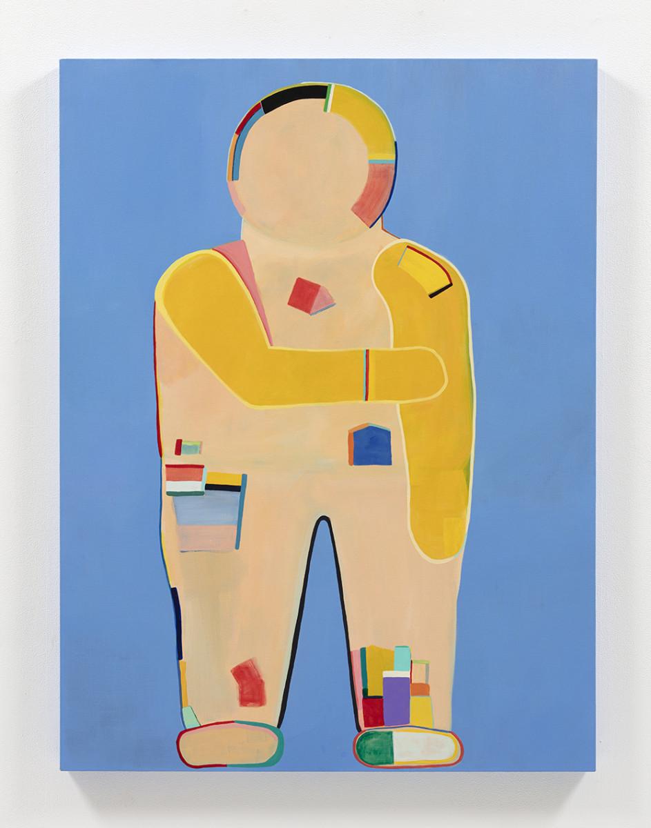 Gabby Rosenberg. <em>Loud Flesh, No Shadow X</em>, 2021. Acrylic on canvas, 48 x 36 inches (121.9 x 91.4 cm)
