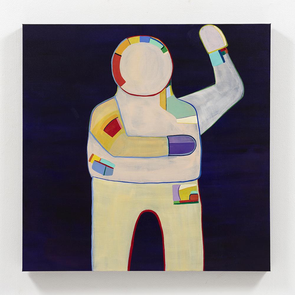 Gabby Rosenberg. <em>Loud Flesh, No Shadow XI</em>, 2021. Acrylic on canvas, 36 x 36 inches (91.4 x 91.4 cm)