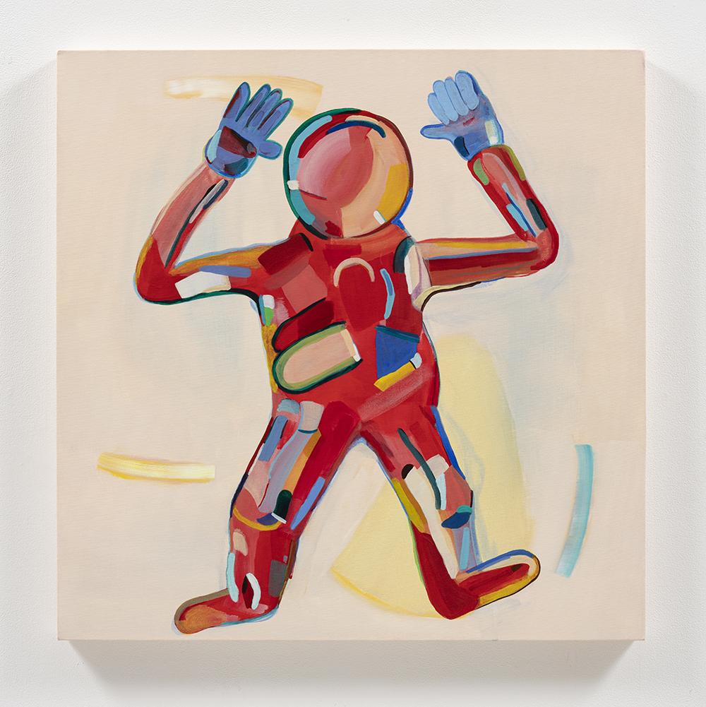 Gabby Rosenberg. <em>Loud Flesh, No Shadow III</em>, 2021. Acrylic on canvas, 24 x 24 inches (61 x 61 cm)