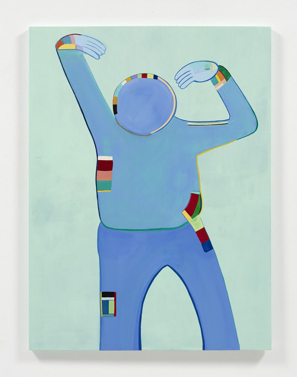 Gabby Rosenberg. <em>Loud Flesh, No Shadow XII</em>, 2021. Acrylic on canvas, 40 x 30 inches (101.6 x 76.2 cm)