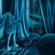 Karolina Jabłońska.<em>Looking out the Window (blue)</em>, 2020. Oil on canvas, 70 7/8 x 74 7/8 inches (180 x 190.2 cm) thumbnail
