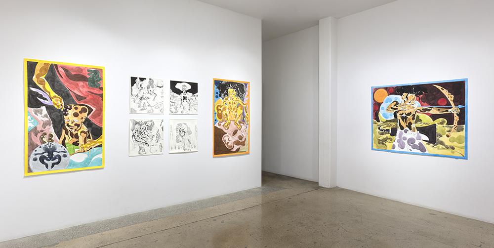 <em>MythMaking</em>. Installation view, Steve Turner, 2021