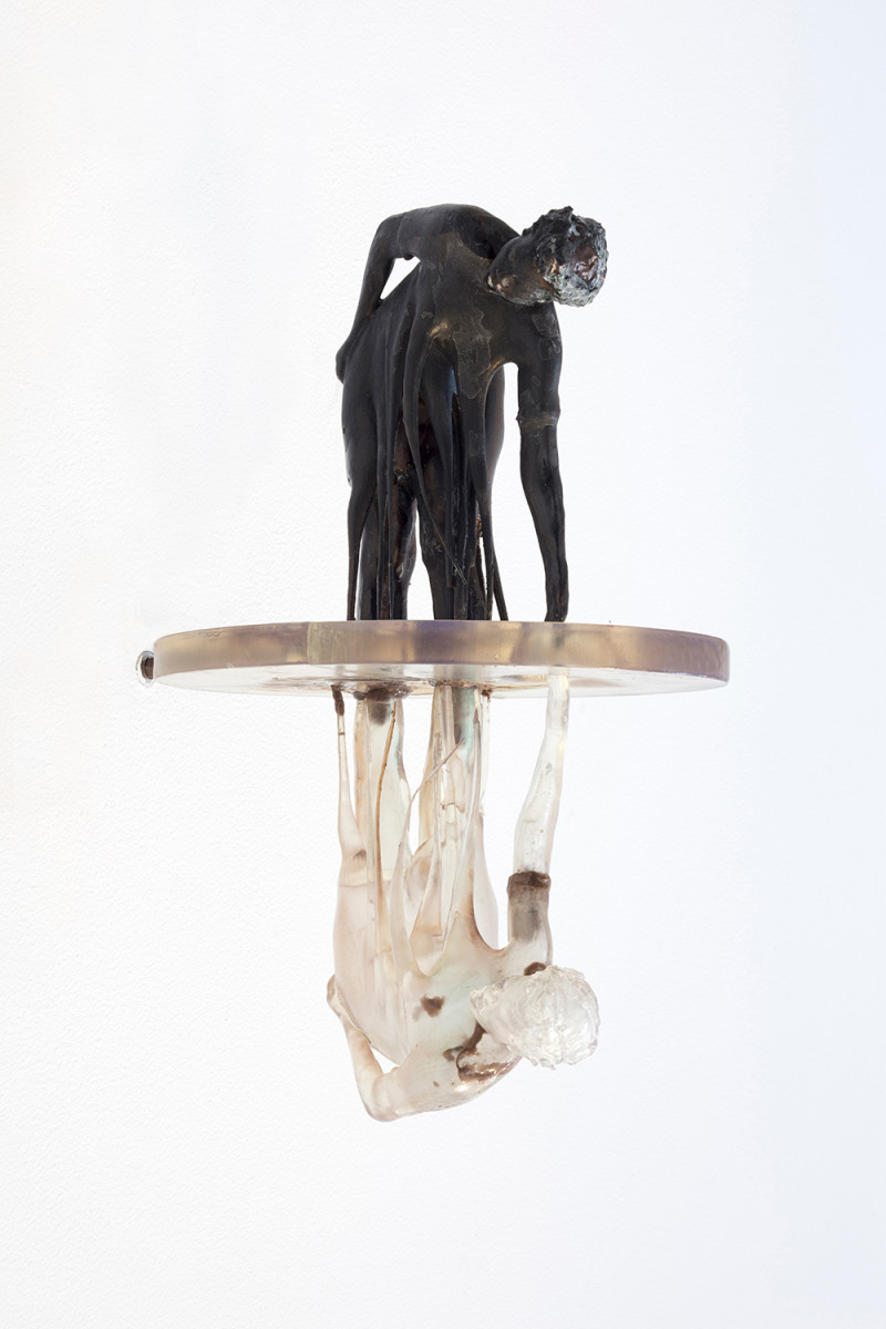 Auriea Harvey. <em>Echo (modello)</em>, 2021. Resin, epoxy clay and patina, 15 3/4 x 7 3/4 x 11 5/8 inches (40 x 19.7 x 29.5 cm)