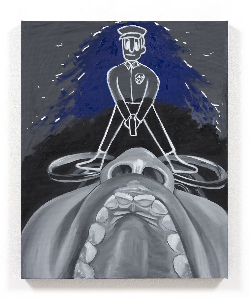 Brittany Tucker. <em>Nightmare 3</em>, 2021. Oil on canvas, 39 3/8 x 31 1/2 inches (100 x 80 cm)