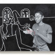 Brittany Tucker. <em>Party Scene (Cat's Cradle)</em>, 2021. Oil on canvas, 31 1/2 x 39 3/8 inches (80 x 100 cm) thumbnail