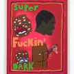 David Leggett. <em>Skin deep and mountain high</em>, 2021. Acrylic and felt on canvas, 14 x 11 inches (35.6 x 27.9 cm) thumbnail