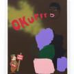 David Leggett. <em>Geist</em>, 2021. Acrylic, spray paint, collage and felt on canvas, 28 x 22 inches  (71.1 x 55.9 cm) thumbnail