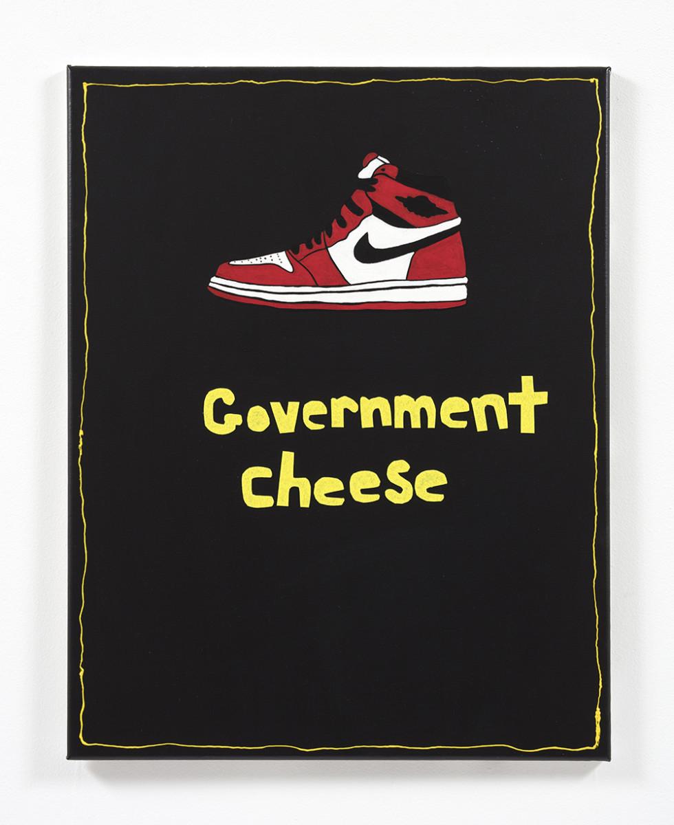 David Leggett. <em>Upward</em>, 2021. Acrylic and felt on canvas, 28 x 22 inches (71.1 x 55.9 cm)