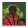 David Leggett. <em>Many mirrors</em>, 2021. Acrylic, spray paint, collage and felt on canvas, 30 x 30 inches (76.2 x 76.2 cm) thumbnail