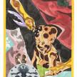 Richard Ayodeji Ikhide. <em>Initiation</em>, 2021. Watercolor on paper, 59 1/4 x 38 5/8 inches (150.5 x 98.1 cm) thumbnail