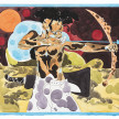 Richard Ayodeji Ikhide. <em>Piercing Thru</em>, 2021. Watercolor on paper, 48 7/8 x 59 1/2 inches (124.1 x 151.1 cm) thumbnail