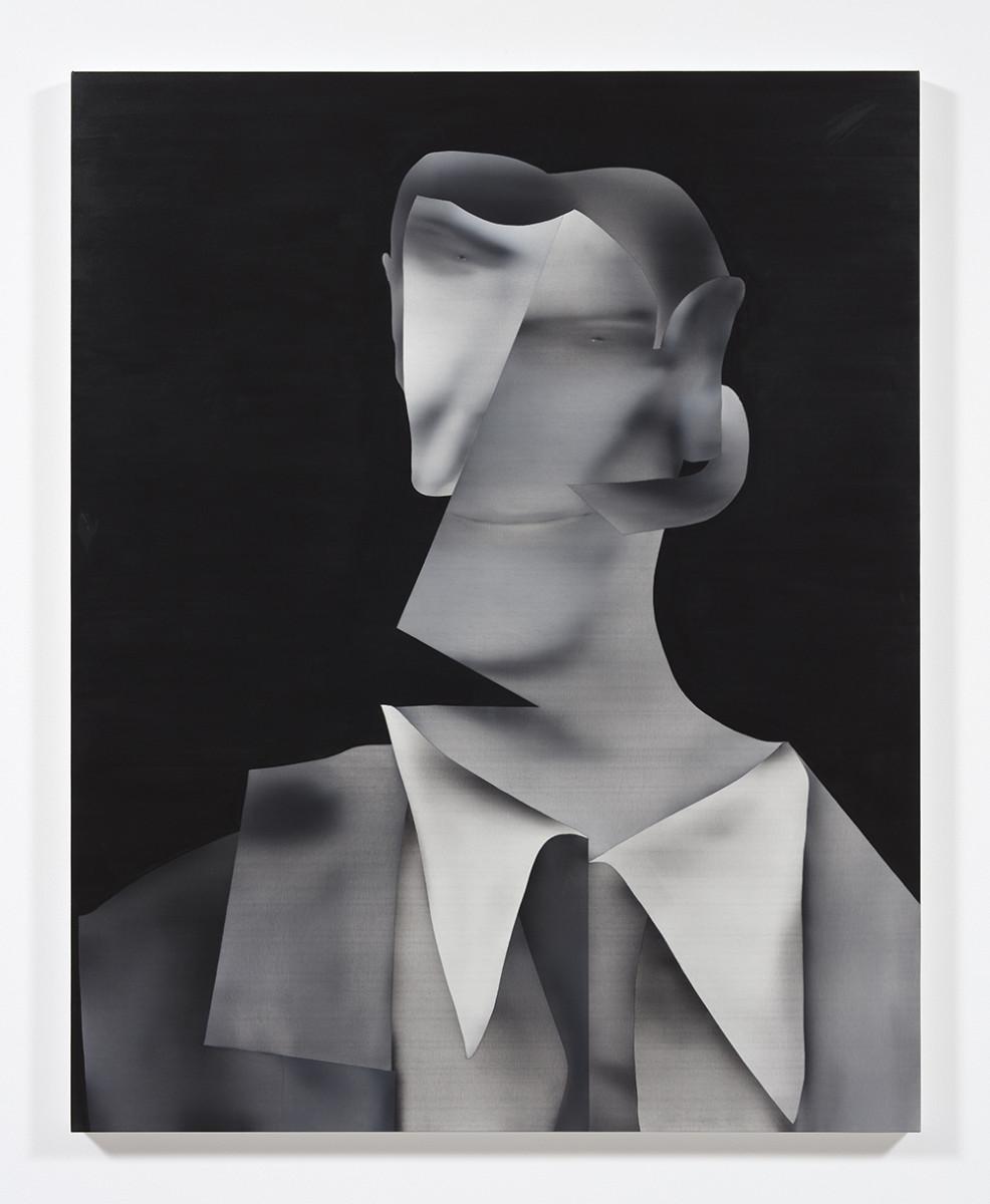 Jingze Du. <em>Attire</em>, 2021. Oil on canvas, 59 1/2 x 47 1/4 inches (151.1 x 120 cm)