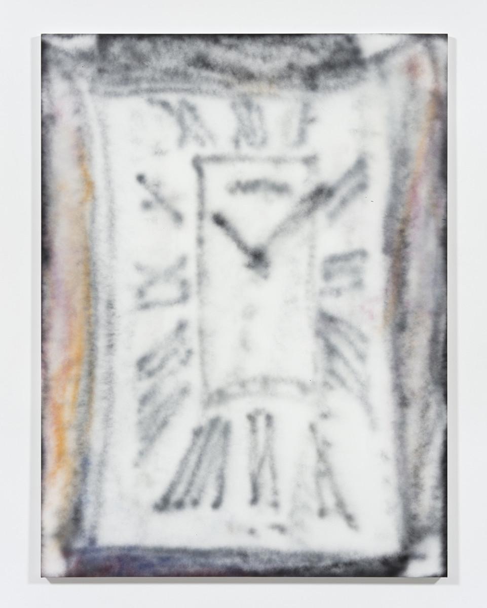 Jingze Du. <em>PM / Cartier</em>, 2021. Acrylic on canvas, 94 1/2 x 70 7/8 inches (240 x 180 cm)