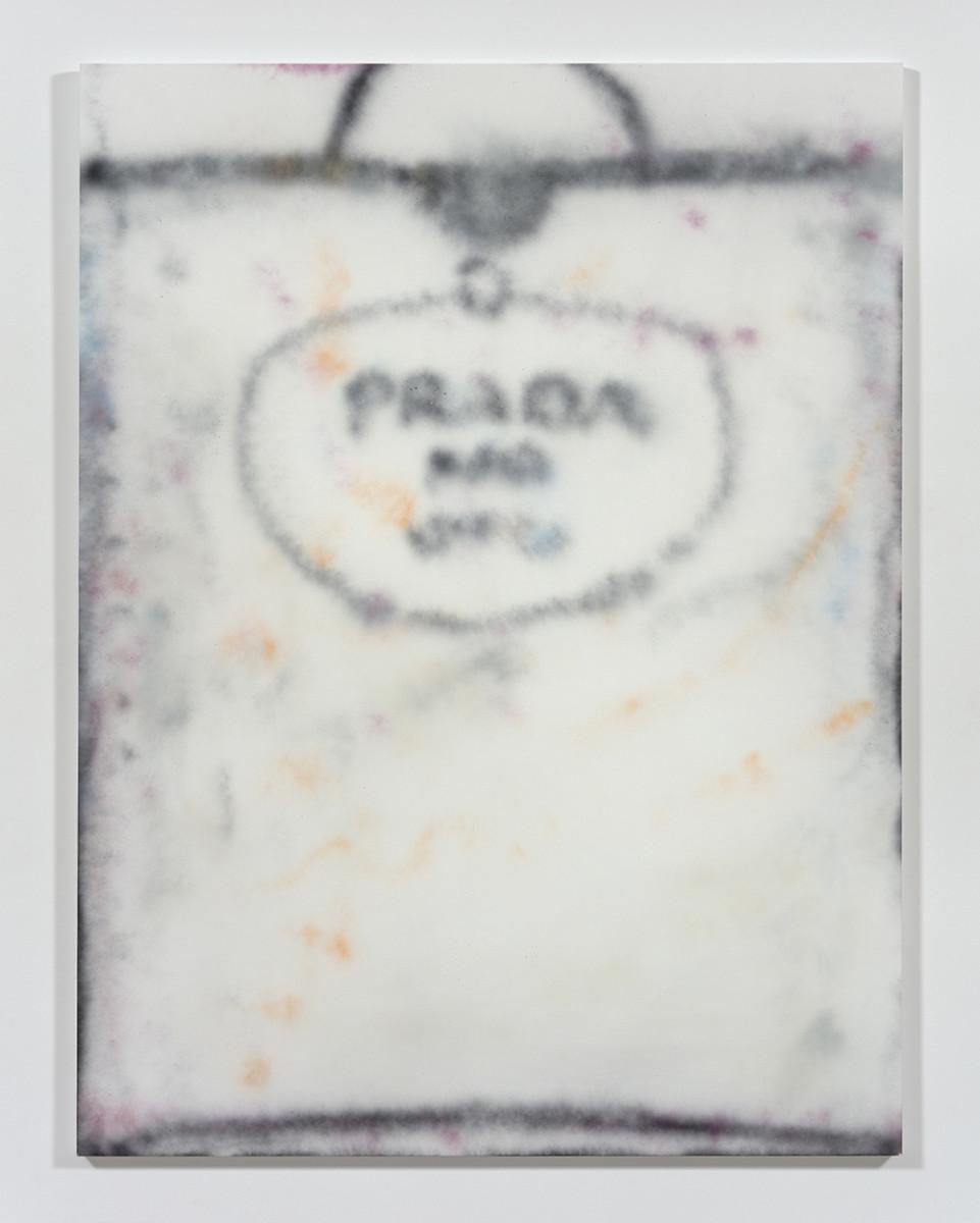 Jingze Du. <em>Prada</em>, 2021. Acrylic on canvas, 94 1/2 x 70 7/8 inches (240 x 180 cm)