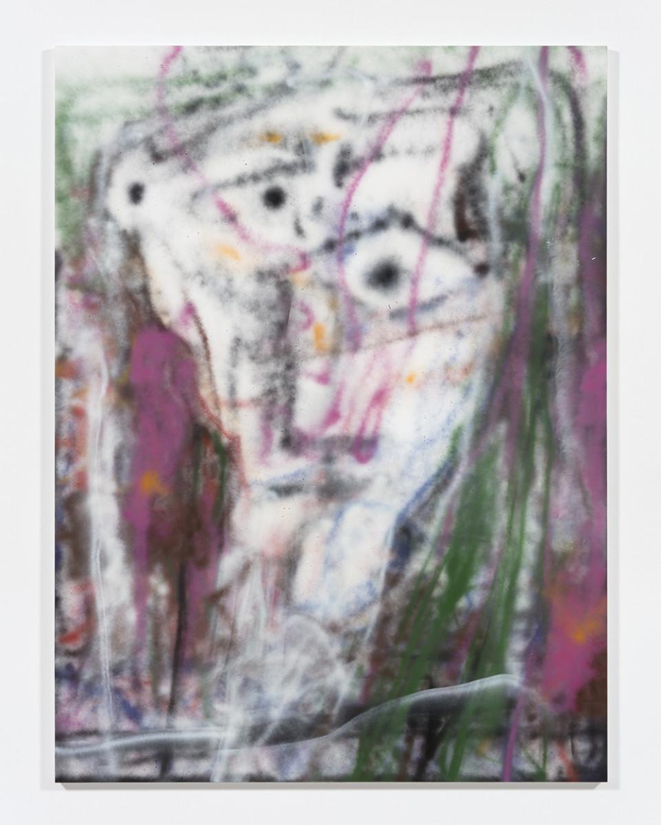 Jingze Du. <em>Vis-à-vis</em>, 2021. Acrylic on canvas, 94 1/2 x 70 7/8 inches (240 x 180 cm)