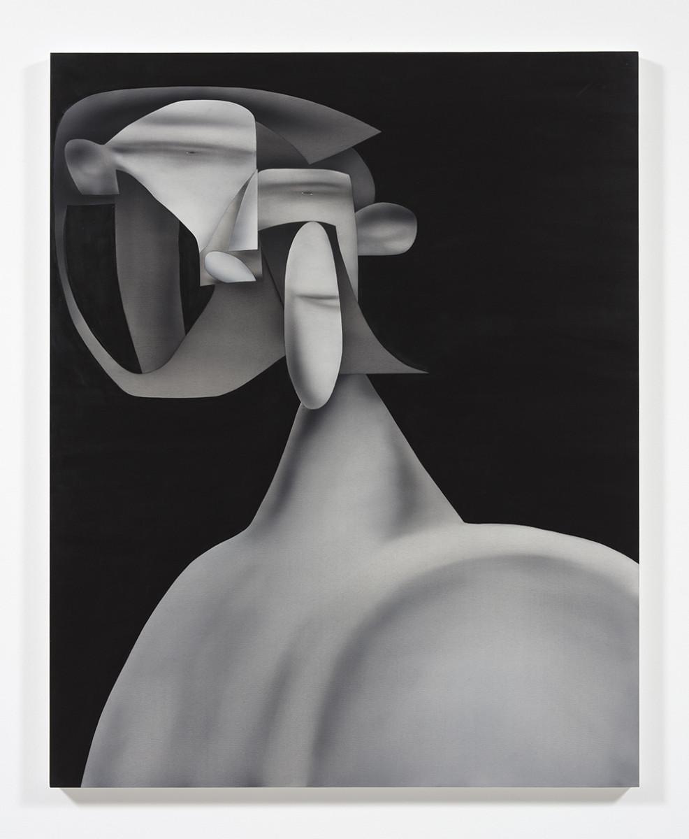 Jingze Du. <em>Nude Figure</em>, 2021. Oil on canvas, 59 1/8 x 47 1/4 inches (150.2 x 120 cm)