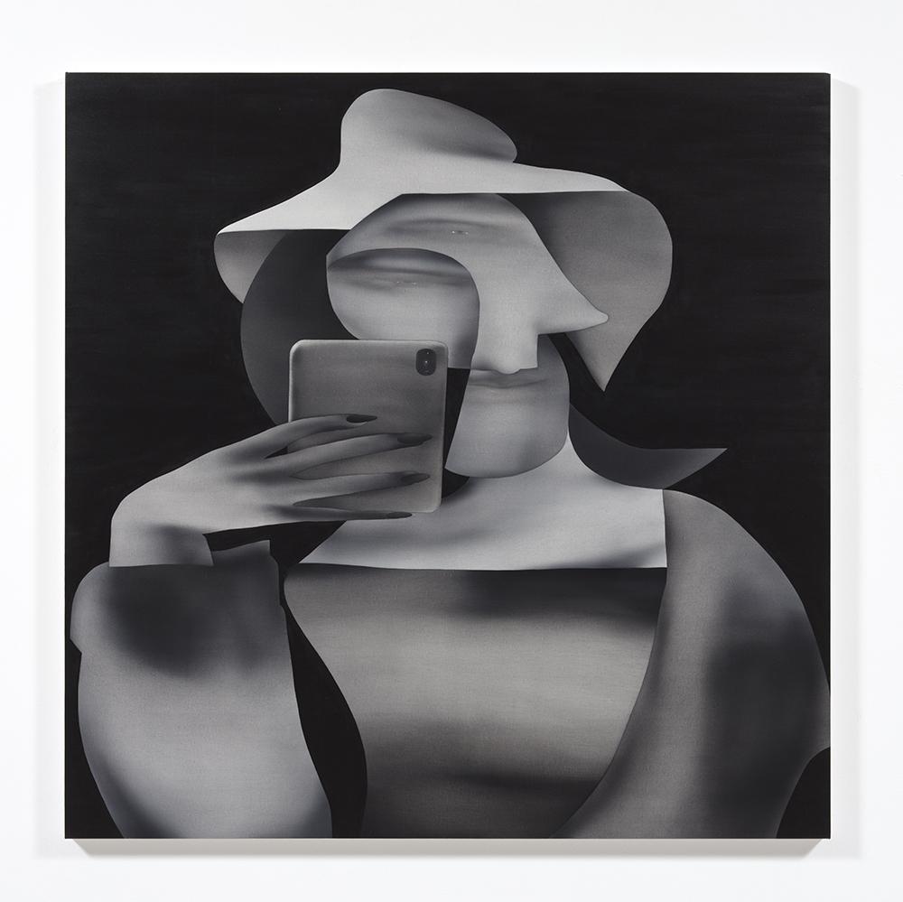 Jingze Du. <em>Memories</em>, 2021. Oil on canvas, 59 1/8 x 59 1/8 inches (150.2 x 150.2 cm)