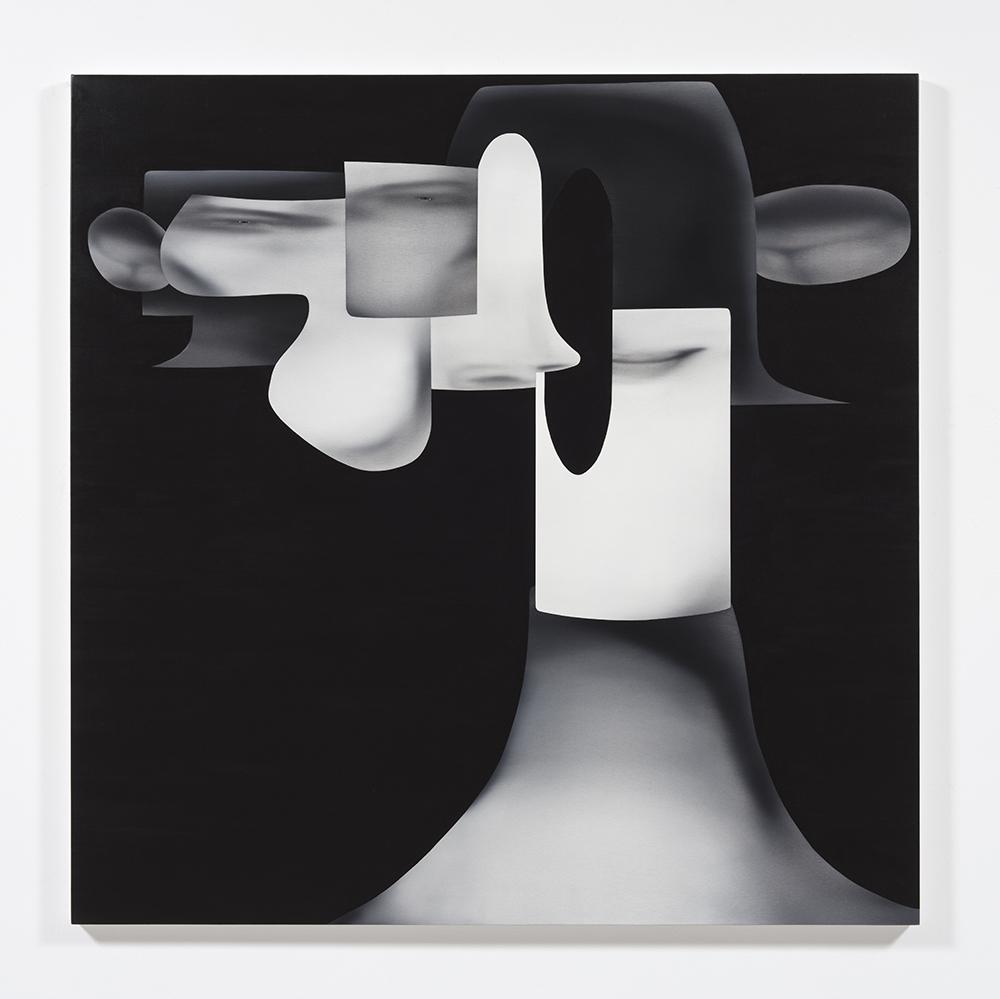 Jingze Du. <em>Trumpet</em>, 2021. Oil on canvas, 59 1/8 x 59 1/8 inches (150.2 x 150.2 cm)