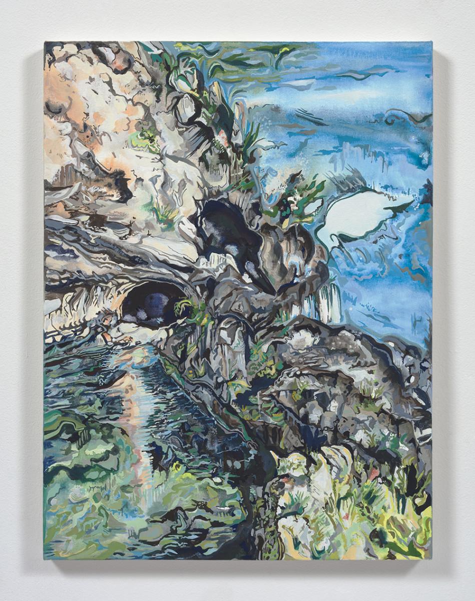 Maria Calandra. <em>Grotta DiSperlonga (Italy)</em>, 2021. Acrylic on canvas over panel, 24 x 18 inches (61 x 45.7 cm)