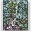Maria Calandra. <em>Mom's Backyard near the Bayou</em>, 2021. Acrylic on linen over panel, 10 x 8 inches (25.4 x 20.3 cm) thumbnail