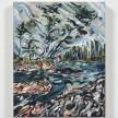Maria Calandra. <em>Mt Desert Narrows Swim</em>, 2021. Acrylic on canvas over panel, 10 x 8 inches (25.4 x 20.3 cm) thumbnail