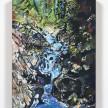 Maria Calandra. <em>Loves Falls (Sierra City)</em>, 2021. Acrylic on colored canvas over panel, 12 x 9 inches (30.5 x 22.9 cm) thumbnail