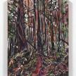 Maria Calandra. <em>Tall Tree Grove (Redwood National Park)</em>, 2021. Acrylic on colored canvas, 14 x 11 inches (35.6 x 27.9 cm) thumbnail