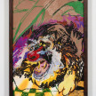 Bianca Fields. <em>Easy, Green and Unseen</em>, 2021. Acrylic, oil and spray paint on yupo paper mounted on canvas with artist frame, 40 x 26 inches (101.6 x 66 cm) thumbnail