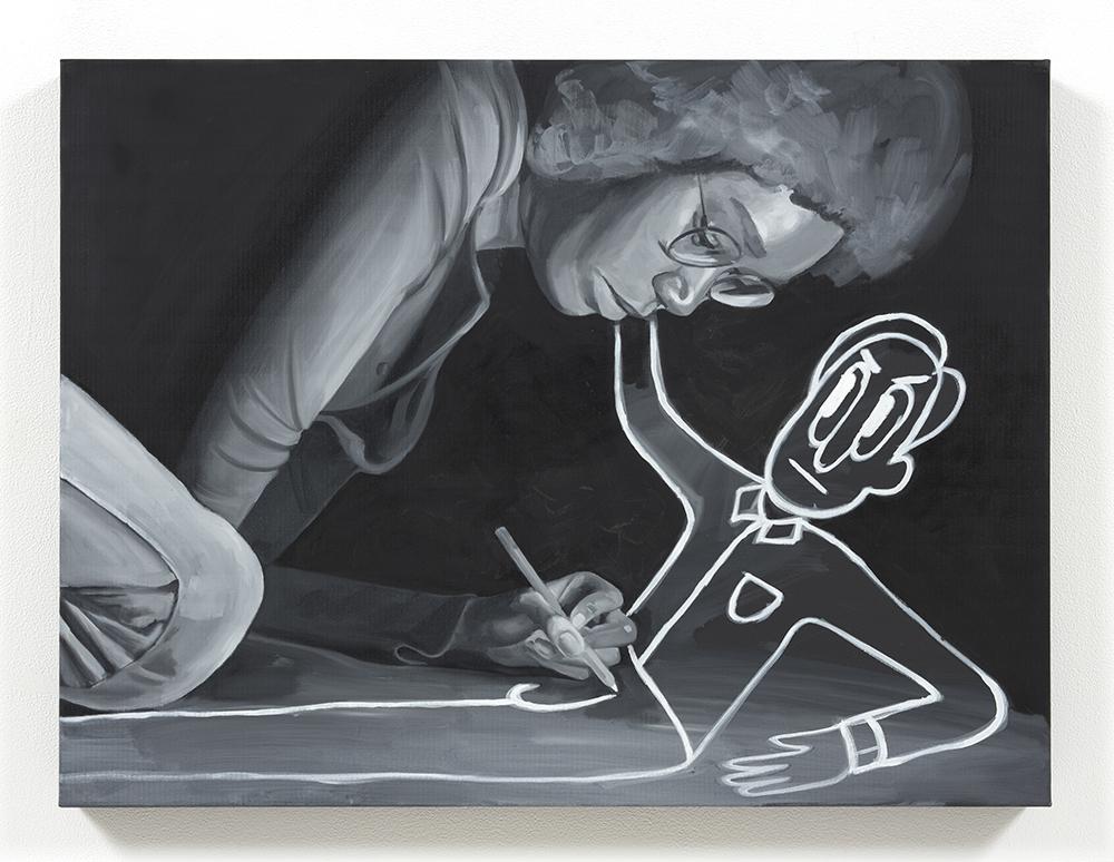 Brittany Tucker. <em>Drawn</em>, 2021. Oil on canvas, 23 5/8 x 31 1/2 inches (60 x 80 cm)