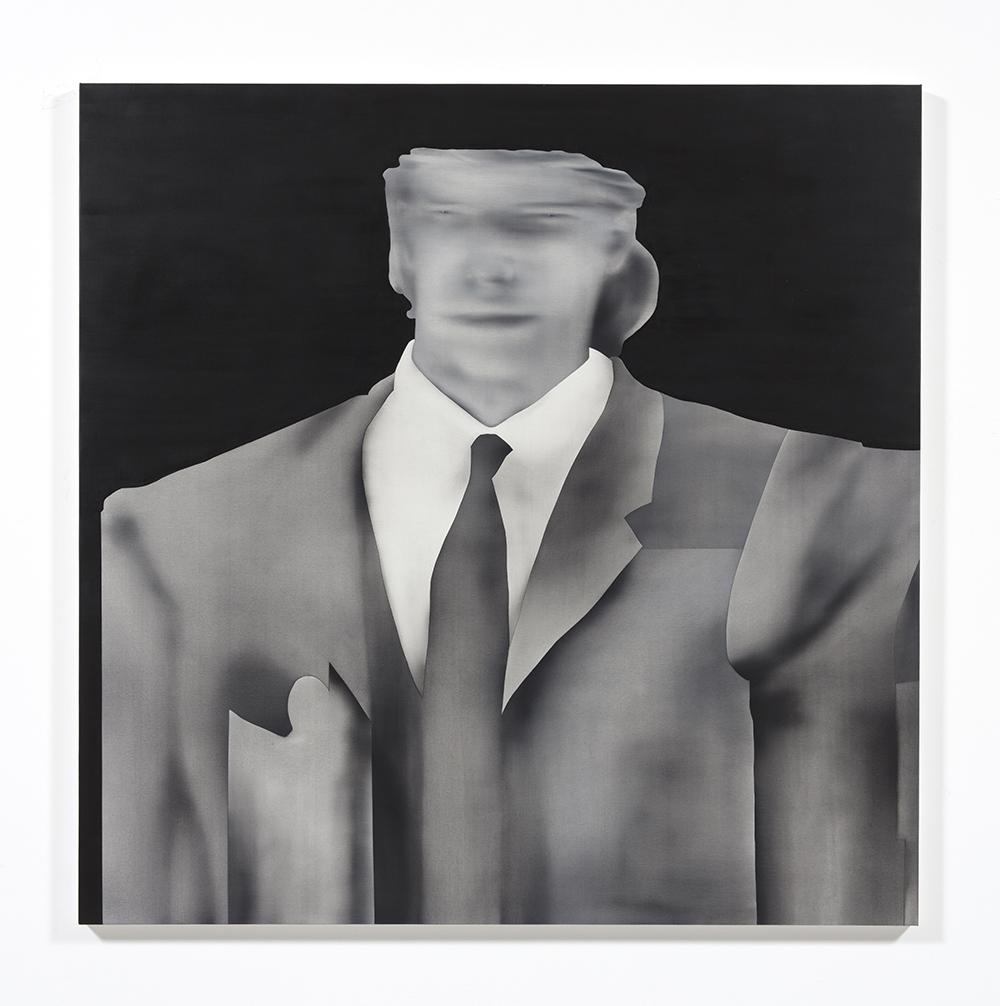 Jingze Du. <em>Audience</em>, 2021. Oil on canvas, 59 1/8 x 59 1/8 inches (150.2 x 150.2 cm)