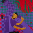Jon Key. <em>Chosen Family No. 16 (Habibis No. 2)</em>, 2021. Acrylic on panel, 60 x 48 inches (152.4 x 121.9 cm) thumbnail