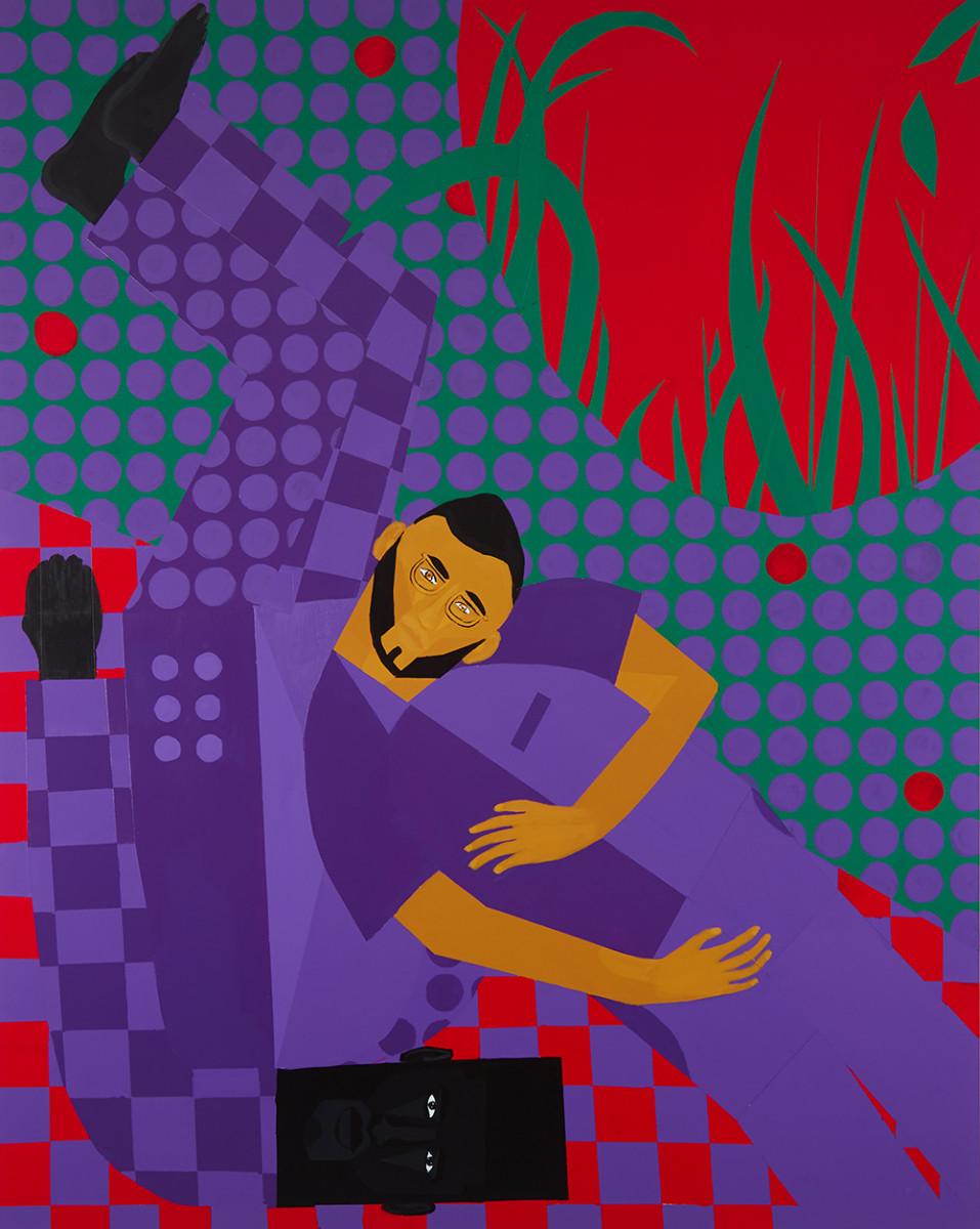 Jon Key. <em>Chosen Family No. 16 (Habibis No. 2)</em>, 2021. Acrylic on panel, 60 x 48 inches (152.4 x 121.9 cm)