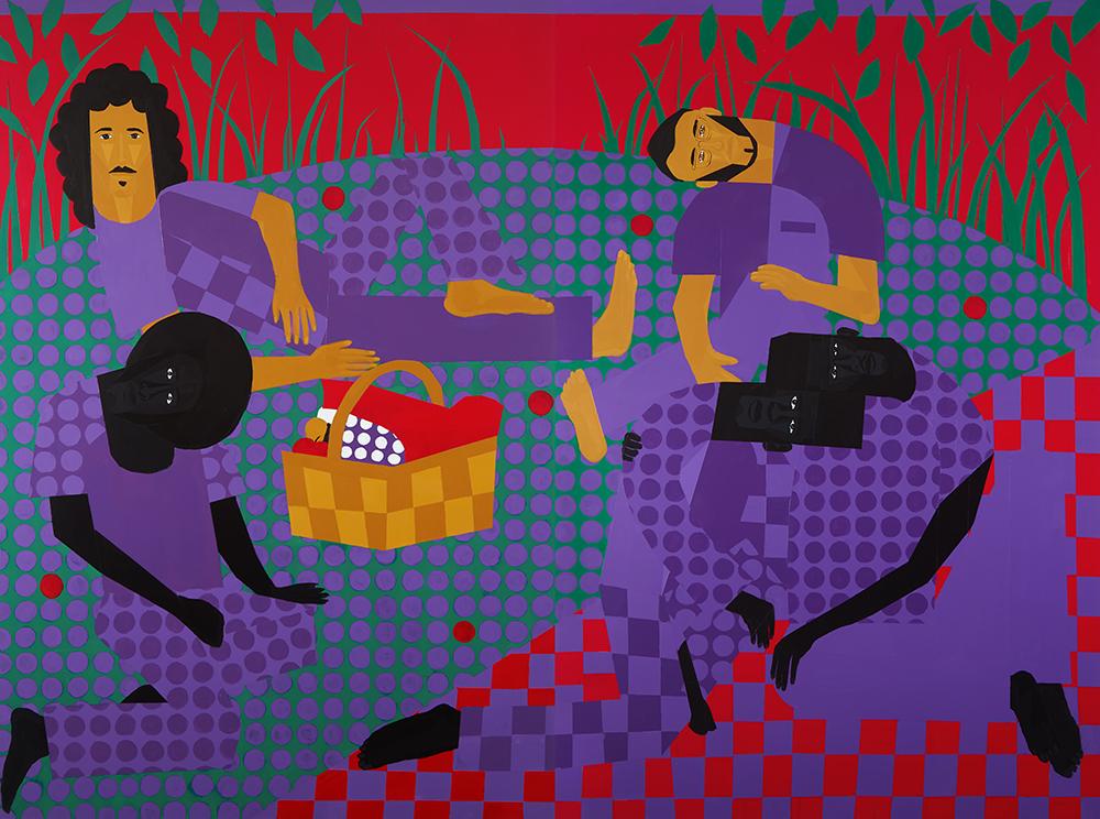 Jon Key. <em>Chosen Family No. 17</em>, 2021. Acrylic on panel, 72 x 96 inches (182.9 x 243.8 cm)