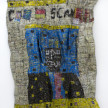 Dickens Otieno. <em>Scan</em>, 2021. Shredded aluminum cans woven on galvanized steel mesh, 66 1/2 x 56 3/4 inches (168.9 x 144.1 cm) thumbnail